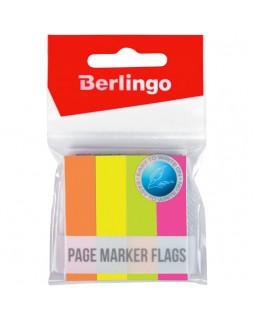 Флажки-закладки Berlingo, 12*50мм, 100л*4 неоновых цвета