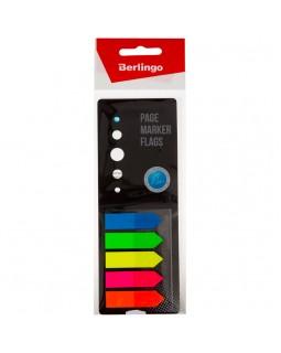 Флажки-закладки Berlingo, 42*12мм, стрелки, 25л*5 неоновых цветов, в картонной книжке