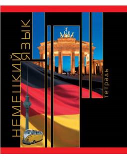 Тетрадь Немецкий язык. Планета знаний. 40 листов, Клетка