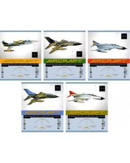 Тетрадь Самолеты-истребители 48л., 5 видов