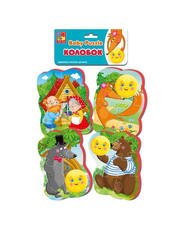 "Мягкие пазлы Baby puzzle Сказки ""Колобок"" 4 картинки, 16 эл."