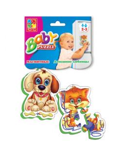 """Мягкие магнитные Baby puzzle """"Домашние любимцы"""" 2 картинки, 7 эл."""