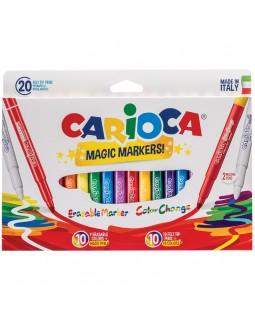 """Фломастеры меняющие цвет/стираемые Carioca """"Magic Markers"""", 18цв+2, 20 шт."""