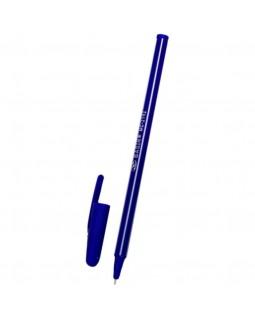 Ручка шариковая Basir МС-2192 пласт .корпус, белая полоска, 0.7мм, синяя