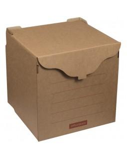 Короб архивный OfficeSpace, 33*31*34см, для регистраторов, накопителей, фронтальная загрузка, липучка