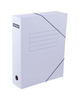 Папка архивная на резинках OfficeSpace, микрогофрокартон, 75мм, белая, до 700л.