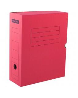 Короб архивный с клапаном OfficeSpace, микрогофрокартон, 100мм, красный, до 900л.