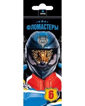 "Фломастеры ""VK"" 6 цв. -Moto-beast- в карт.короб."