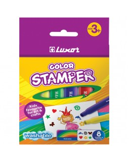 "Фломастеры-штампы Luxor ""Color Stamper"", 08цв., смываемые"
