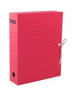 Папка архивная с завязками OfficeSpace, микрогофрокартон, 75мм, красный, до 700л.