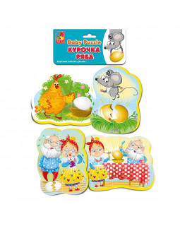 "Мягкие пазлы Baby puzzle Сказки ""Курочка ряба"" 4 картинки, 16 эл."