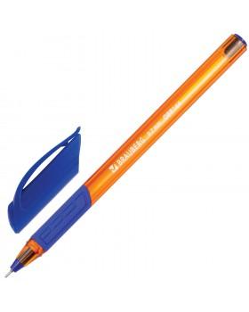 Ручка шариковая масляная с грипом Brauberg Extra Glide GT Tone Orange, синяя, 0,7мм, 0,35мм