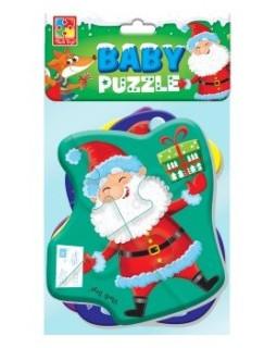 "Мягкие пазлы Baby puzzle ""Дед Мороз и друзья"", 4 картинки, 16 эл."