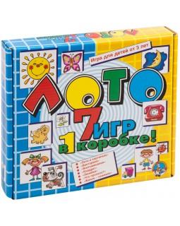 """Игра настольная Лото, Десятое королевство """"7 игр в 1 коробке"""" (большое)"""