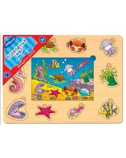 """Игра из дерева """"Весёлое лото. Подводный мир"""""""