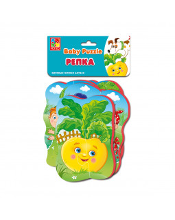 "Мягкие пазлы Baby puzzle Сказки ""Репка"" 4 картинки, 16 эл."