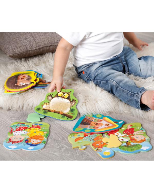 "Мягкие пазлы Baby puzzle ""Животные"" 4 картинки, 16 эл."