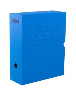 Короб архивный с клапаном OfficeSpace, микрогофрокартон, 100мм, синий, до 900л.