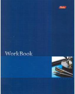 Тетрадь 96л А5ф клетка сшито-клеен. тиснение WorkBook Синяя