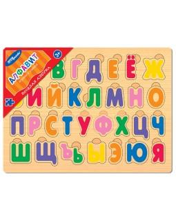 """Игра из дерева """"Весёлая азбука. Алфавит"""""""