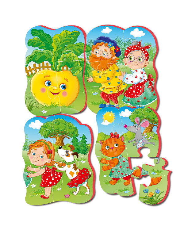 """Мягкие пазлы Baby puzzle Сказки """"Репка"""" 4 картинки, 16 эл."""