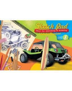 Альбом для рисования Ретро-авто, 8 листов