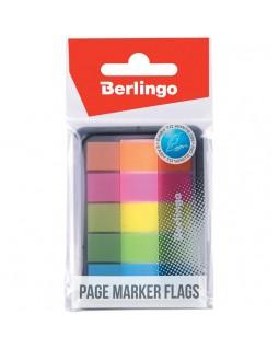 Флажки-закладки Berlingo, 45*12мм, 20л*5 неоновых цветов, в диспенсере
