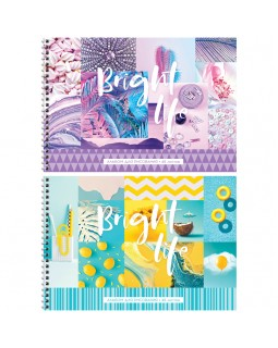 """Альбом для рисования 48л., А4, на гребне ArtSpace """"Стиль. Bright life"""""""