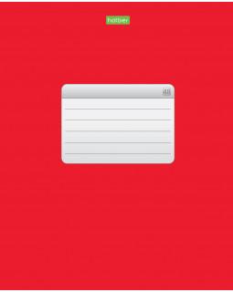 Тетрадь Красная 48 листов, А5, клетка