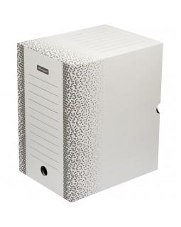 """Короб архивный с клапаном OfficeSpace """"Standard"""" плотный, микрогофрокартон, 200мм, белый, до 1800л."""