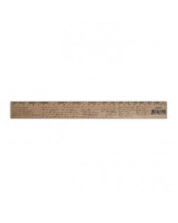 Линейка деревянная 30 см «Алгебра» (шелкография)
