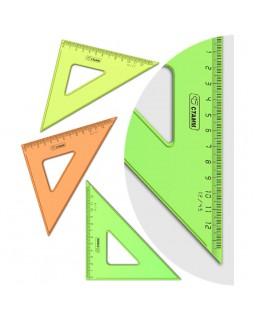 """Треугольник 45°, 12см Стамм """"NEON Cristal"""", ассорти"""