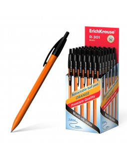 Ручка шар. R-301 orange черная. 0,7мм