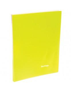 """Папка c зажимом Berlingo """"Neon"""", 17мм, 700мкм, неоновая желтая"""