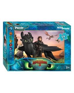 """Мозаика """"puzzle"""" 54 """"Как приручить дракона - 3"""" (DreamWorks)"""