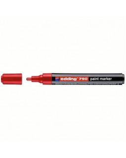 """Маркер-краска Edding """"790"""" красный, 2-3мм, пластиковый корпус"""