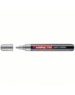 "Маркер-краска Edding ""790"" серебро, 2-3мм, пластиковый корпус"
