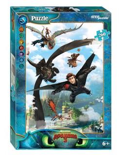 """Мозаика """"puzzle"""" 260 """"Как приручить дракона - 3"""" (DreamWorks)"""