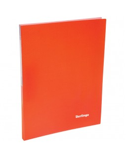 """Папка c зажимом Berlingo """"Neon"""", 17мм, 700мкм, неоновая оранжевая"""