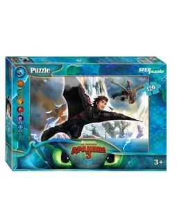"""Мозаика """"puzzle"""" 120 """"Как приручить дракона - 3"""" (DreamWorks)"""