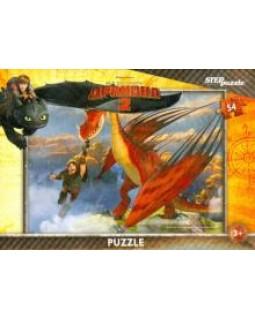 """Мозаика """"puzzle"""" 54 """"Драконы"""" (DreamWorks)"""