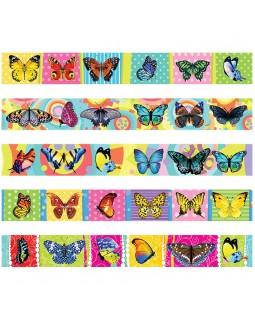 """Закладка - магнит для книг, 25*200мм, ArtSpace """"Бабочки"""", блестки"""