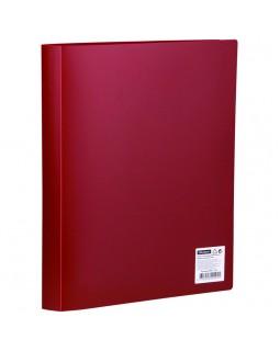 Папка с 60 вкладышами OfficeSpace, 21мм, 400мкм, красная