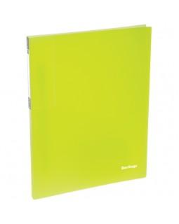 """Папка c пружинным скоросшивателем Berlingo """"Neon"""", 17мм, 700мкм, неоновая желтая"""