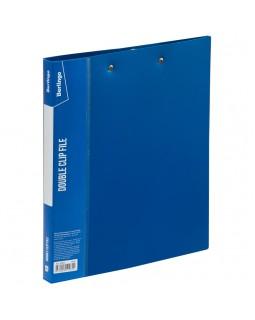 """Папка с 2-мя зажимами Berlingo """"Standard"""", 17мм, 700мкм, синяя"""