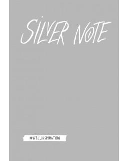 Silver Note. Креативный блокнот с серебряными страницами
