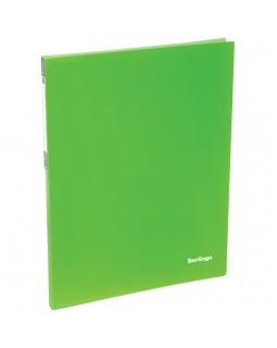 """Папка c пружинным скоросшивателем Berlingo """"Neon"""", 17мм, 700мкм, неоновая зеленая"""