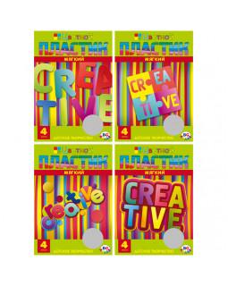 """Набор цветного мягкого пластика EVA 4 л.А4, 4 цвета,""""Creative"""" (ассорти) в папке"""