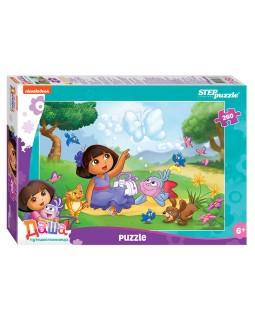 """Мозаика """"puzzle"""" 260 """"Даша-путешественница"""" (Никелодеон)"""
