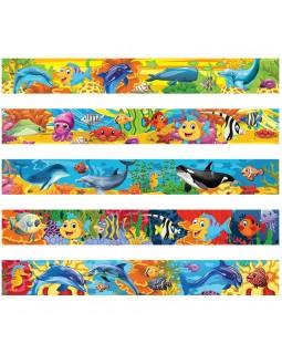 "Закладка - магнит для книг, 25*200мм, ArtSpace ""Морские обитатели"", блестки"